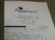 Rude Applebee's Receipt Tells Waitress To 'Stop Eating, B*tch!'