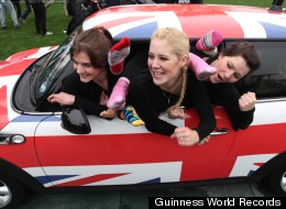 RECORD SETTING VIDEO: 28 Women In One Mini Cooper