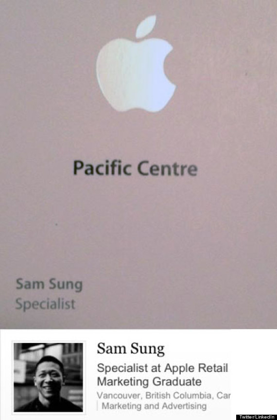 LOOK: Sam Sung Works For Apple