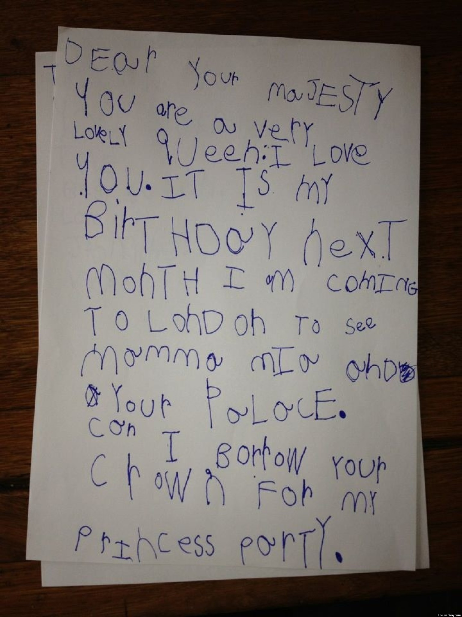 Cute Things To Post On Your Boyfriends Facebook Wall Tumblr : Cute Kid Note Of The Day: A Letter To The Queen HuffPost