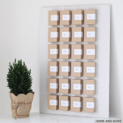 Christmas Crafts Homemade Advent Calendar That S Hot On Pinterest