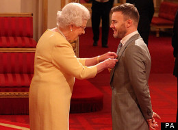 Gary Collects His OBE