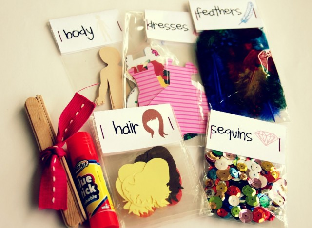 Homemade gift ideas paper doll kit for a creative kid for Best christmas gifts for boyfriend 2012