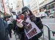 At 'Dump The Trump' Macy's Rally, Sparks Fly
