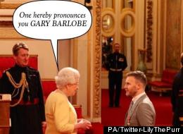 Gary Barlow Receives OBE From Queen: Funniest Picture Captions