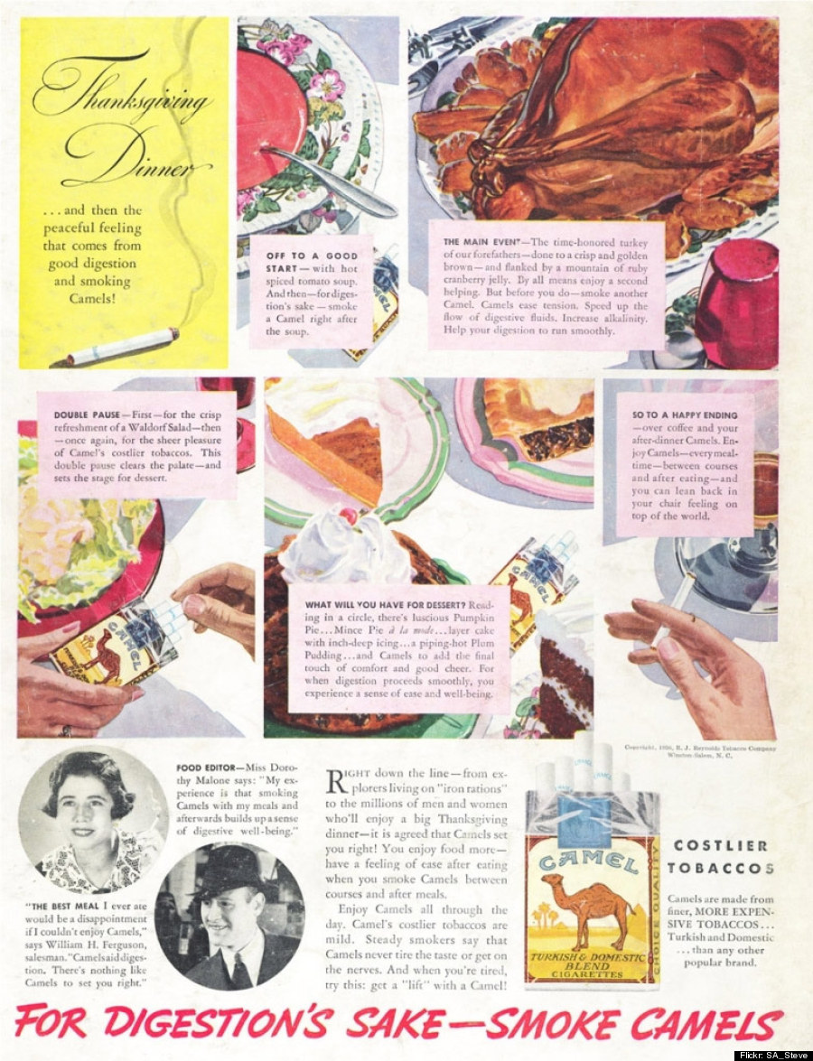 Vintage Camel Cigarettes Thanksgiving Ad Suggests Smoking After