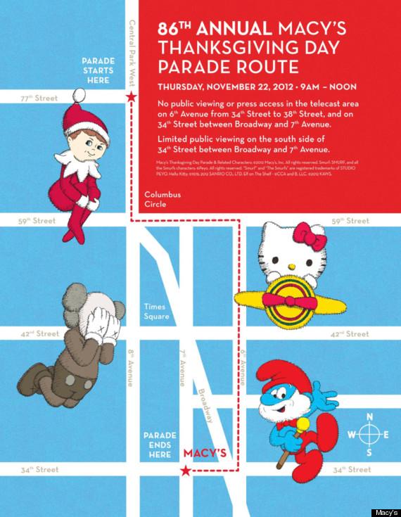 macys parade route 2012