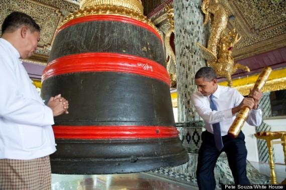 obama rings bell