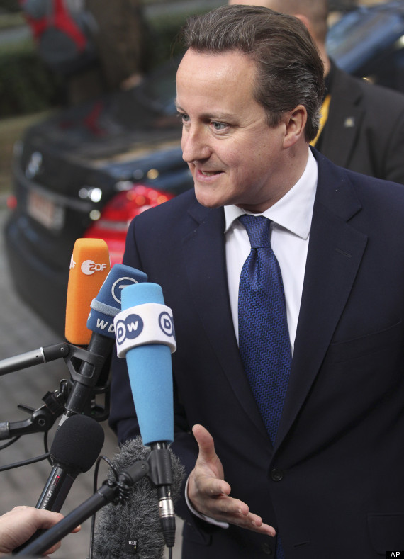 david cameron arrives in brussels