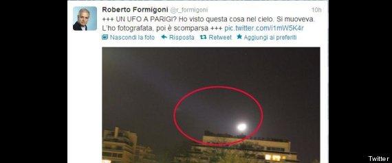 ROBERTO FORMIGONI UFO TWITTER