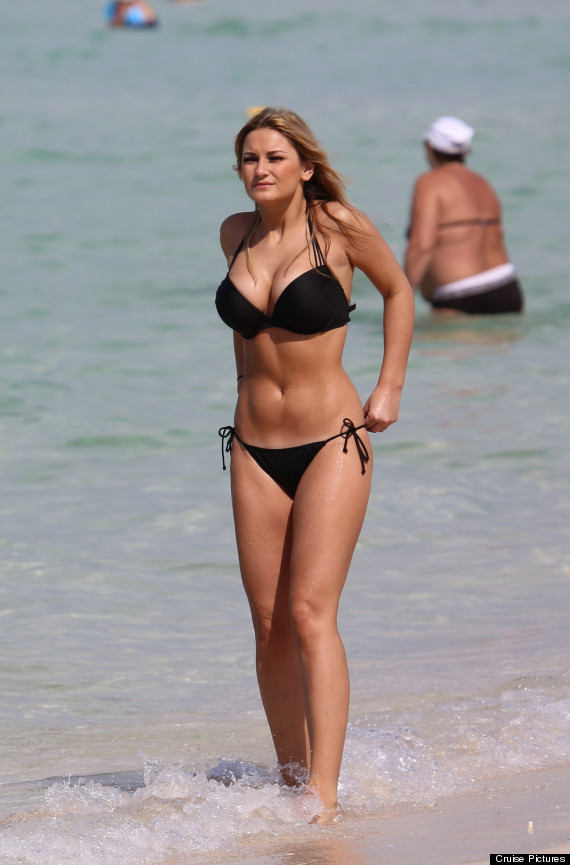 Sam Faiers Shows Off Her Bikini Body On Beach Holiday To