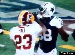 WATCH: DeAngelo Hall Punches Dez During Game