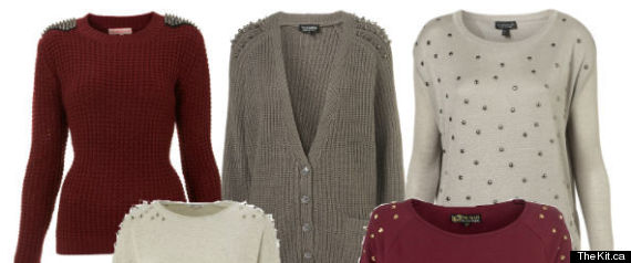 WINTER FASHION 2012 STUDDED SWEATERS