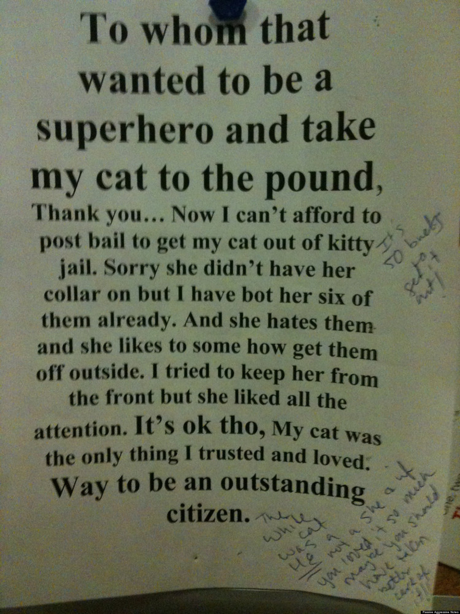 Most Wtf Notes From Annoyed Neighbors Photos Huffpost