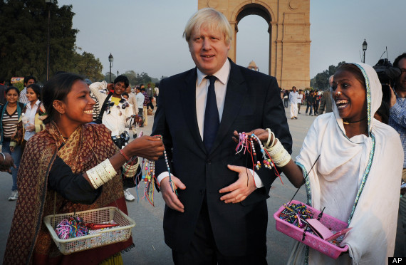 boris johnson in delhi