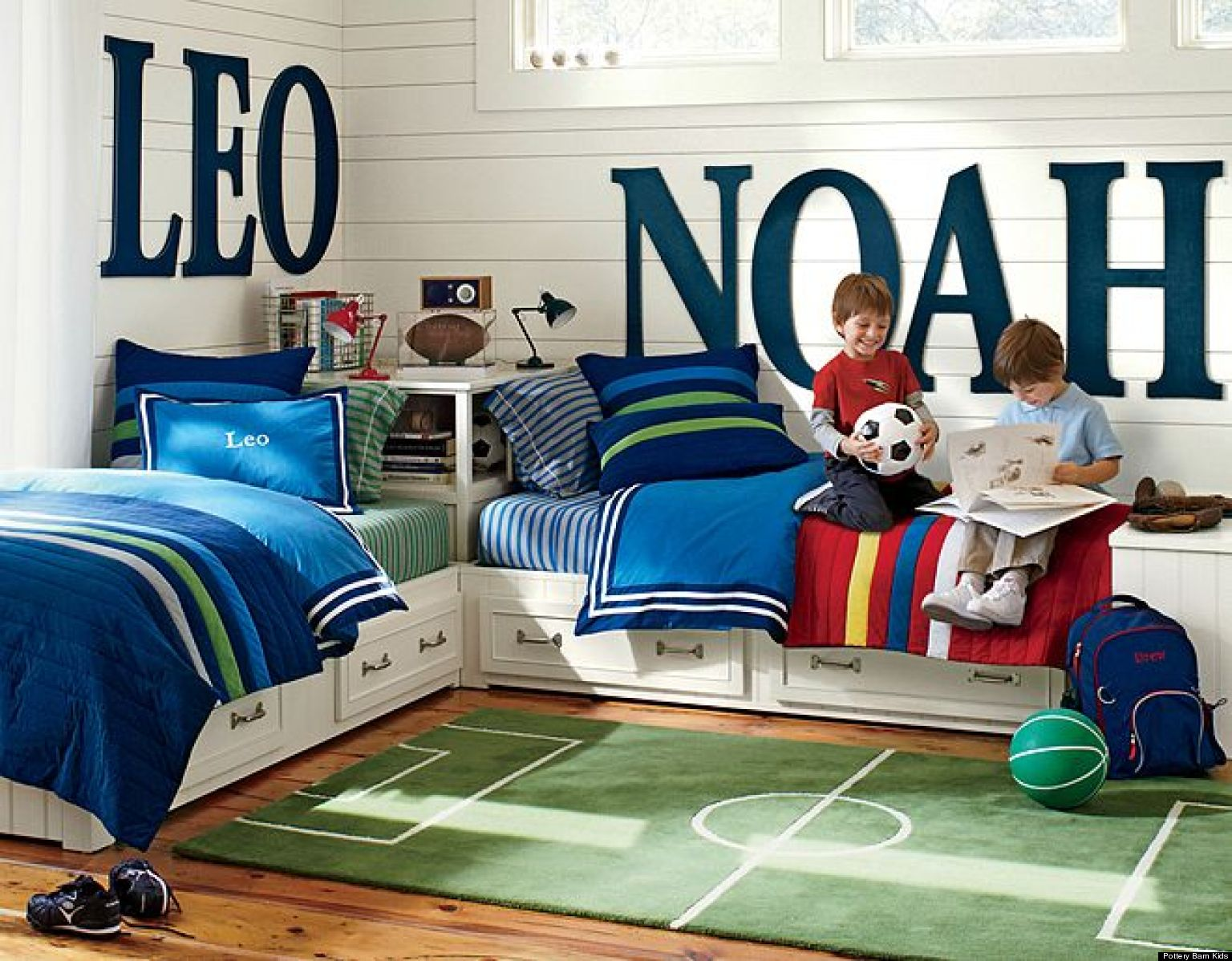 Boys soccer bedroom ideas - Inspiring Shared Kids Bedrooms Huffington