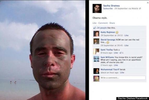 israel spokesman black face