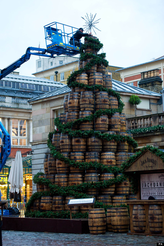 christmas barrel tree