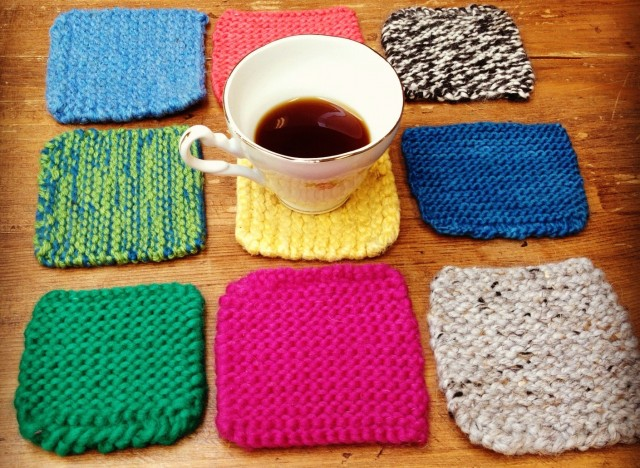 Easy Knitting Ideas For Christmas : Homemade gift ideas knitted coasters huffpost