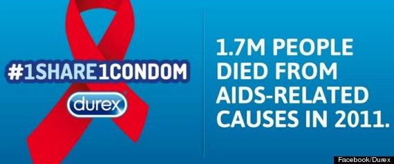 durex world aid day twitter
