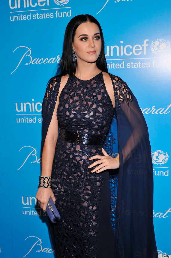 Fabulous Katy Perry Tries A Glittery Cape Gown At A UNICEF Ball: Yay Or Nay  WW22
