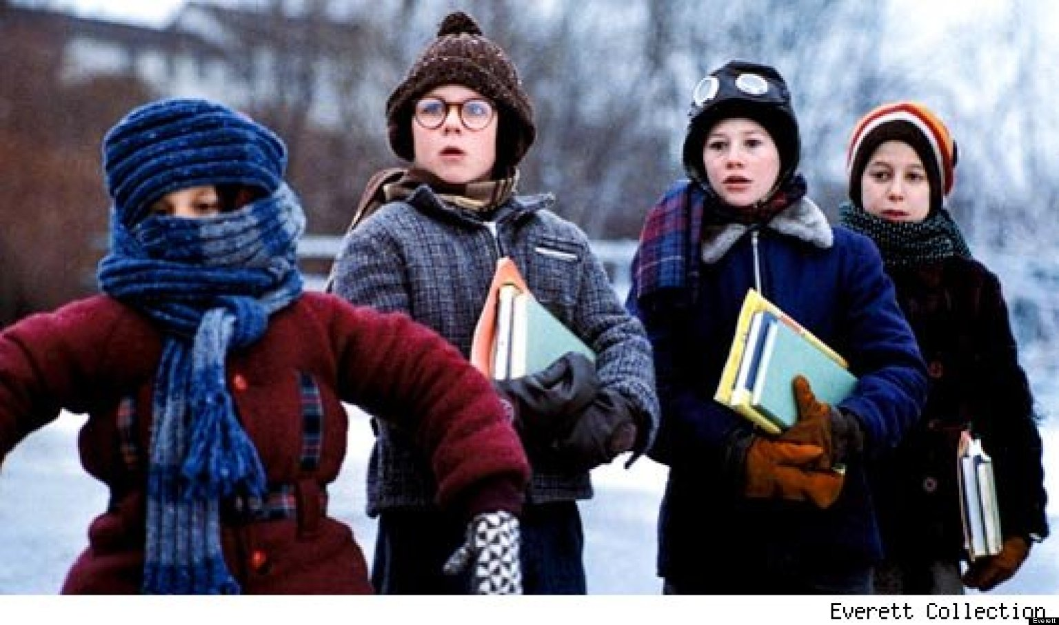 a christmas story how did they do the infamous flagpole