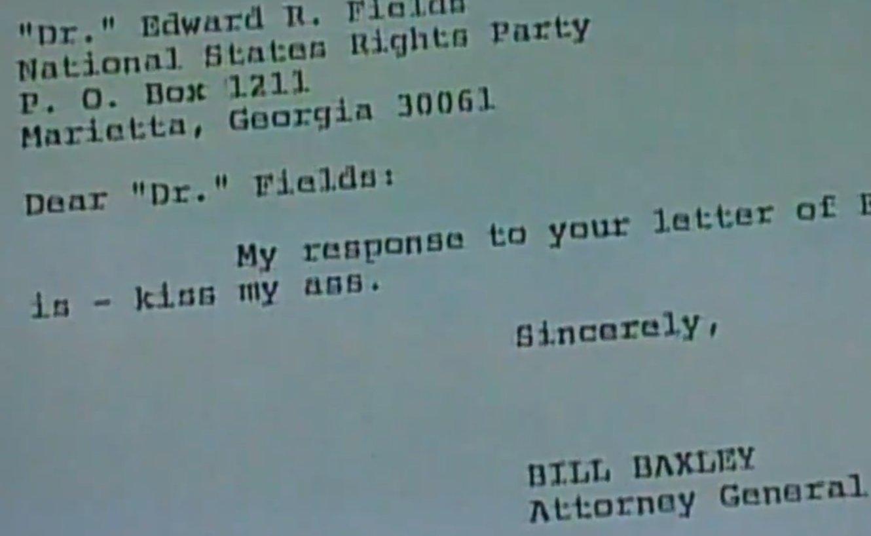 Former Attorney General Bill Baxleys Kiss My A Letter To Ku