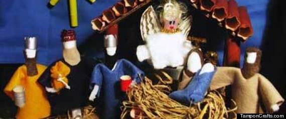 Tampon Nativity Scene