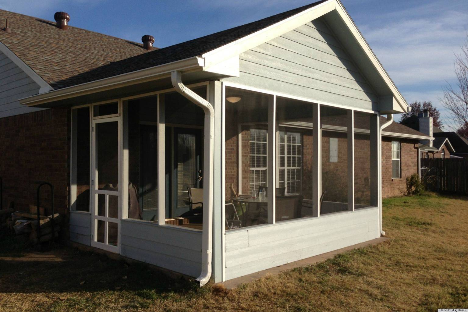 How To DIY A Screened-In Patio For Only $500 (PHOTOS ... on Diy Back Deck Ideas id=34123
