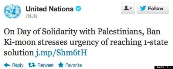 un tweet israel palestine