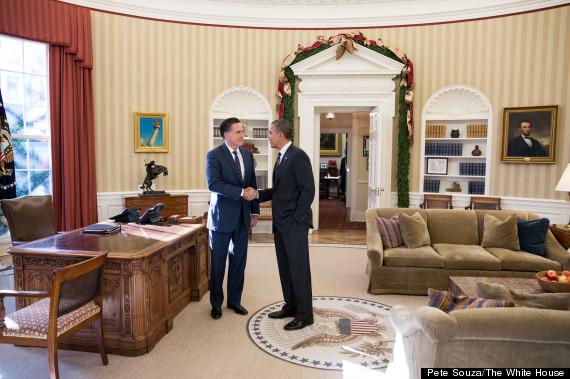obama romney lunch photo