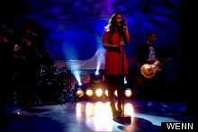 Leona Lewis Joins The Loose Women Ladies In Red Lacy Number