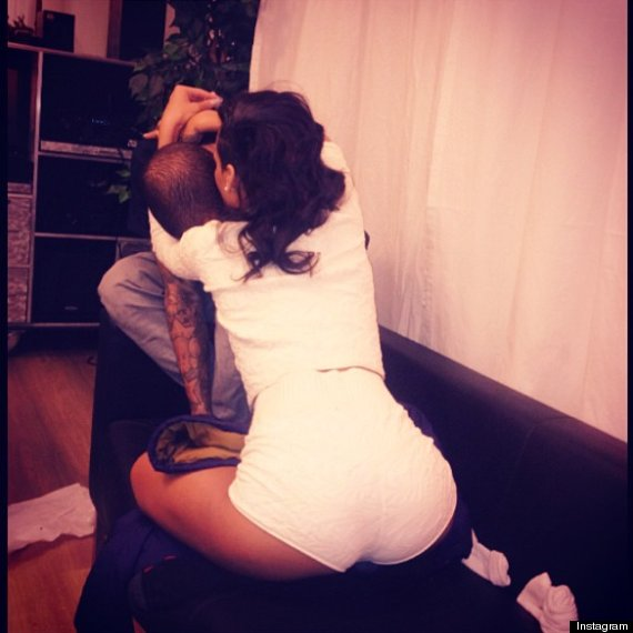 Rihanna Hugs and Kisses Chris Brown, Posts Photo on Instagram, Sparks Relationship Rumors Again (PHOTOS)