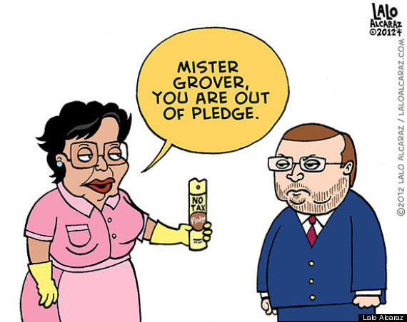 no tax pledge grover