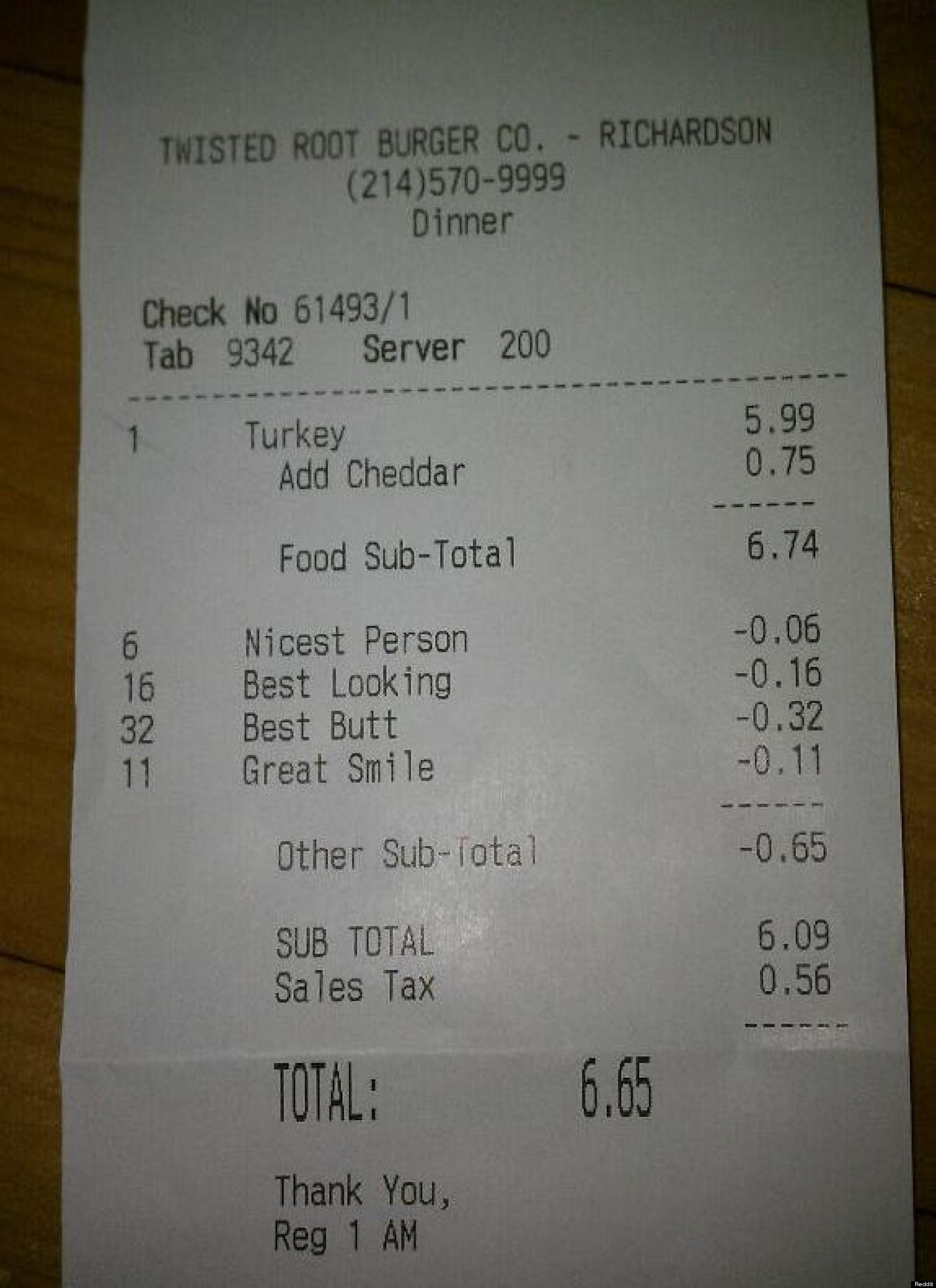 funny receipts  28 ridiculous instances of cash register