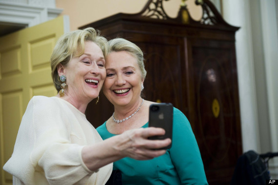 Hillary Clinton and Meryl Streep