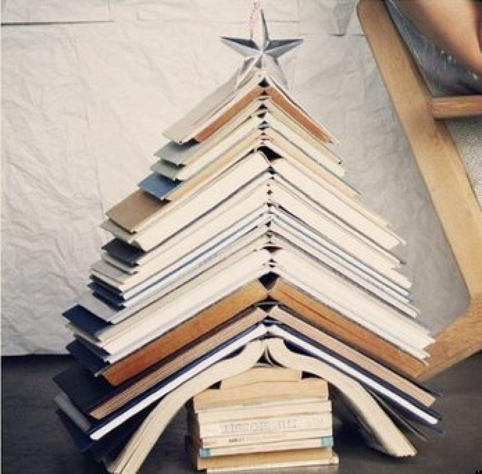 Ideas para decorar el rbol de navidad libros homenajes - Ideas originales navidad ...