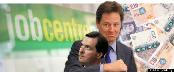 OSBORNE CLEGG BENEFIT CUTS SPLASH