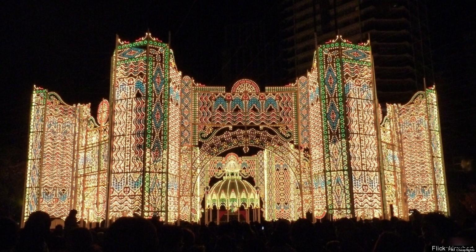 christmas light displays near eaton ohio