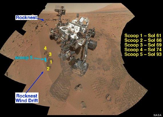mars curiosity rocknest