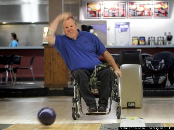 george holscher wheelchair bowling