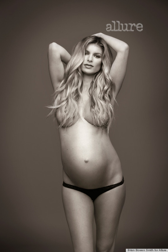 marisa miller poses pregnant amp topless for allure