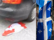 Canadian Flag Run Over, Stepped On By Quebec Separatists (VIDEO)
