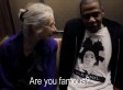 Jay-Z Chats With Older Lady, 'Ellen,' On The Subway En Route To Barclays Center Show (VIDEO)
