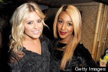 Alexandra Burke Shows Off Blonde Hair On Mahiki Night Out With Mollie King