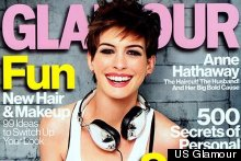 Anne Hathaway Goes Punk For US Glamour Magazine Cover