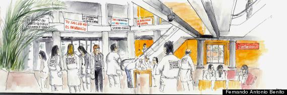 dibujo sanidad pública
