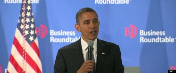 OBAMA REPORTERS BUSINESS ROUNDTABLE