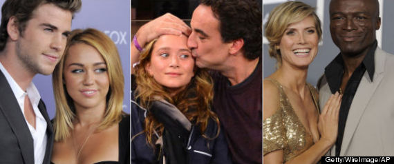 CONTROVERSIAL CELEBRITY COUPLES 2012
