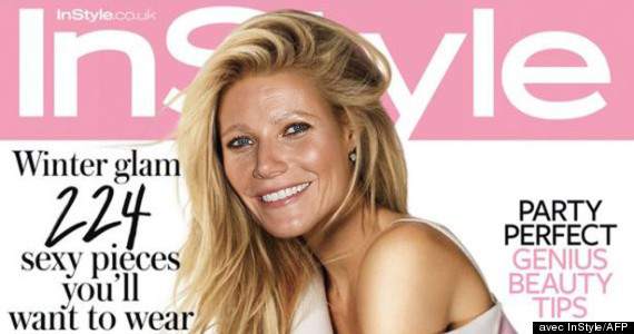instyle paltrow couverture